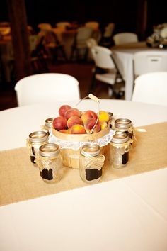 Country Wedding Peaches Centerpiece