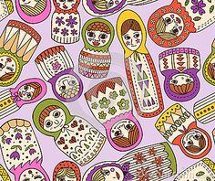russian doll seamless pattern by Kidstudio 852, via Dreamstime