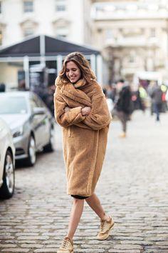 the Max Mara teddy bear coat. getting more mileage than a Rolls Royce. London.