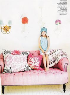 How fun would it be for a kid's room to have its own vintage couch?!
