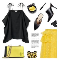 """Yellow and Black"" by deepwinter ❤ liked on Polyvore featuring Rochas, Emilio Pucci, STELLA McCARTNEY and NYX"