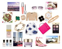 """""""Today"""" by maria-chamourlidou ❤ liked on Polyvore featuring MSGM, Calvin Klein Collection, Valentino, Mark Cross, Oliver Peoples, Christian Dior, Tiffany & Co., Anita Ko, Bulgari and Van Cleef & Arpels"""