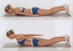 Get your sexiest body ever without,crunches,cardio,or ever setting foot in a gym Yoga Fitness, Fitness Tips, Health Fitness, Health Club, Thigh Exercises, Back Exercises, Easy Workouts, At Home Workouts, Lose Back Fat