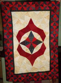 "QM Scrap Squad: Emily Klaczak's ""Kashmir"" version of the Old World Christmas quilt pattern from Quiltmaker's Nov/Dec '15 issue."