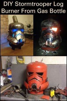 DIY Stormtrooper Log Burner From Gas Bottle  Keep your family warm during cold seasons through this DIY.