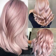 Blond Rose, Pink Blonde Hair, Pastel Pink Hair, Hair Color Pink, Platinum Blonde Hair, New Hair Colors, Hair Color For Black Hair, Cool Hair Color, Big Hair