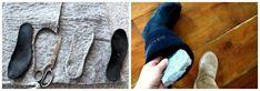 Bien isoler vos chaussures du froid avec des semelles en feutrine de laine.16 Astuces pour ne plus jamais avoir froid en hiver Plus Jamais, Guide, Slippers, Cold, Helpful Tips, Felt Fabric, Tips, Winter, Recipes