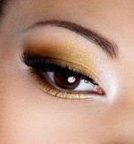 Gold and copper are really nice eyeshadow colors--especially for brown eyes #celebstylewed