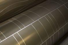 Móz Designer Metals Engravings Collection in Aluminium Crossroads in Custom Color, Inviting Imagination Columns #InvitingImagination #EngravingsMetal #MozDesignerMetals
