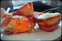 Eggs in bacon and toast