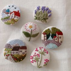 Supreme Best Stitches In Embroidery Ideas. Spectacular Best Stitches In Embroidery Ideas. Hand Embroidery Stitches, Silk Ribbon Embroidery, Embroidery Art, Cross Stitch Embroidery, Embroidery Patterns, Art Textile, Fabric Jewelry, Needlework, Sewing Projects