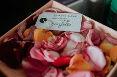 Flower petal confetti for Melbourne wedding by @dittodittoflorals Melbourne Wedding, Flower Petals, Confetti, Florals, Our Wedding, Floral, Flowers