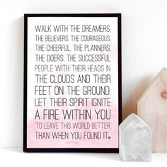 Print *walk with the dreamers* by m.belle