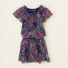 girl - dresses & rompers - cascade ruffle paisley dress | Children's Clothing | Kids Clothes | The Children's Place