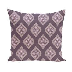 E by Design Petals Decorative Pillow Purple Polyester - PGN217PU9PU14-26