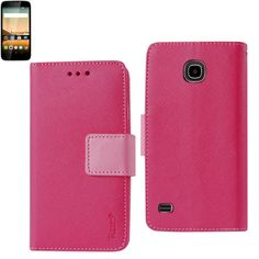 Reiko Wallet Case 3 In 1 For Huawei Union Hot Pink With Interior Leather-Like Material And Polymer Cover