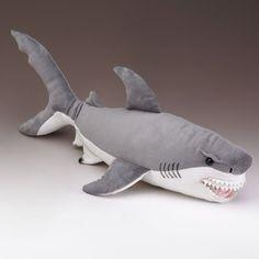 Amazon.com : XL Great White Shark Stuffed Animal 25 Inches Long : Shark Pillow…