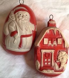 Antique Santa Ornaments