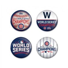 Chicago Cubs Button - 4 Pack - 2016 World Series Champs