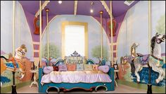 How is this for a big room, look at the headboard. It is a Carousel panel !