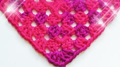How to crochet a Half Granny Square shawl - © Woolpedia