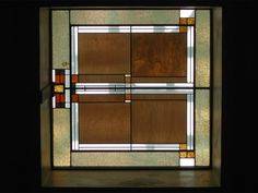 Unity Temple. Chicago. Frank Lloyd Wright´s stained glass.