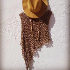 Summer knit poncho, love boho style!!!