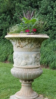 large classical urn at Montpelier formal gardens History Geeks' Founding Fathers Home Tour-Part II - Feathering My Empty Nest