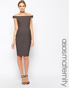 ASOS Maternity Exclusive Bodycon Dress with Bow Detail The only one that comes in grey :(