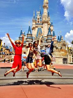 Must take a picture like this in Disney!! Since all 4 of us will have graduated!! Megan!!!