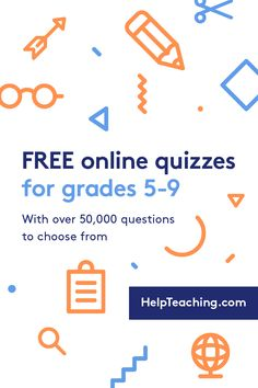 Test Maker™ - Create Your Own Quizzes, Tests, and Worksheets for FREE. School Worksheets, Free Printable Worksheets, Free Printables, Online Quizzes, Online Tests, Multiple Choice, Help Teaching, Homeschooling, Middle School