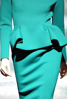 Ooh La La...LANVIN.  Turquoise.  Life is good. (fall 2012)