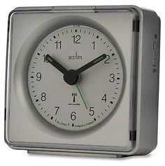 """Acctim 71437 #""""piper"""" radio controlled #alarm #clock in silver (our ref 2robp),  View more on the LINK: http://www.zeppy.io/product/gb/2/142003470794/"""