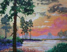 """Morning Over the Water Moorcroft Musings Series"" © Alida Akers"