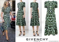 GIVENCHY Leopard Print A-line Dress