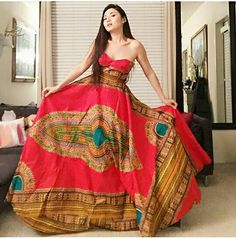 Hey, I found this really awesome Etsy listing at https://www.etsy.com/listing/237503538/dashiki-ball-gown-free-shipping