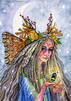Oak Fairy Art Print Grandmother Butterfly Fairy por sarambutcher - Pin it by GUSTAVO BUESO-JACQUIER