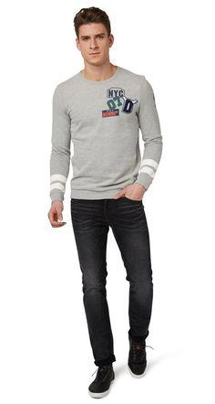 Tom Tailor Denim 5-Pocket-Jeans »Piers Super Slim« für 59,99€. Herren-Super-Slim-Jeans - Piers, Mit Logo-Badge hinten am Bund bei OTTO