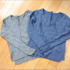 BUNDLE two GAP sweaters, S small. Great condition sz small GAP sweaters (itchy tag removed on the gray one).  Shorter in the front.  Soft, not scratchy. A great bundle! GAP Sweaters Crew & Scoop Necks