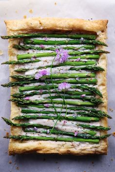 Simple Asparagus Tart | Dairy-Free/Vegan Friendly | Wife Mama Foodie
