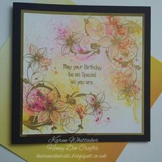 Floral Corner Flourish by Honey Doo Crafts It's Your Birthday, Birthday Cards, Honey Doo Crafts, Flower Cards, Crafts To Do, Vintage Flowers, Hello Everyone, Flourish, I Card