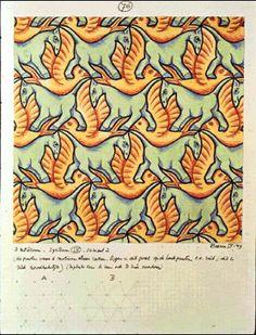 M.C. Escher – Horse / Bird (No. 76), Colored pencil, ink, watercolor,1949.