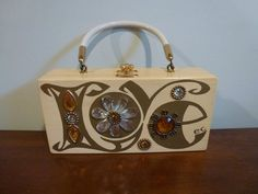 Enid Collins Love Wood Box Bag