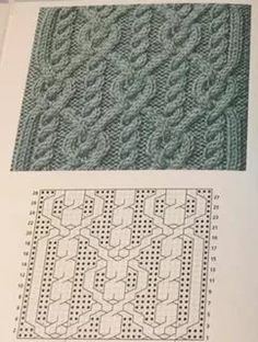 Cable Knitting Patterns, Knitting Stitches, Knitting Designs, Knit Patterns, Crochet Jacket, Knit Crochet, Celtic Patterns, Knitted Afghans, Sewing