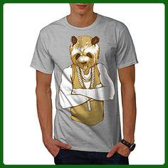 Panda Human Cool Gangster Men XXL T-shirt | Wellcoda - Animal shirts (*Amazon Partner-Link)