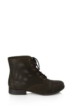 0a60421286c Perforated Combat Boots