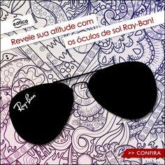 Atitude com os óculos de sol Ray-Ban #rayban #oculos #oculosdesol #sunglass