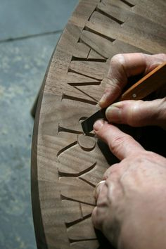 Caroline Webb Lettercarver in wood and stone: Lettering in wood