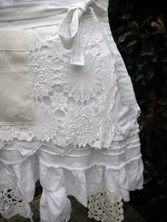 Handmade Half Aprons White Lace Apron