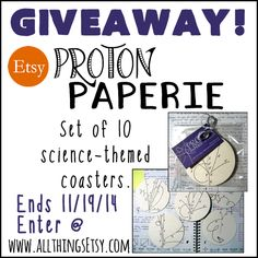 All Things Etsy: Proton Paperie Etsy Shop Giveaway!
